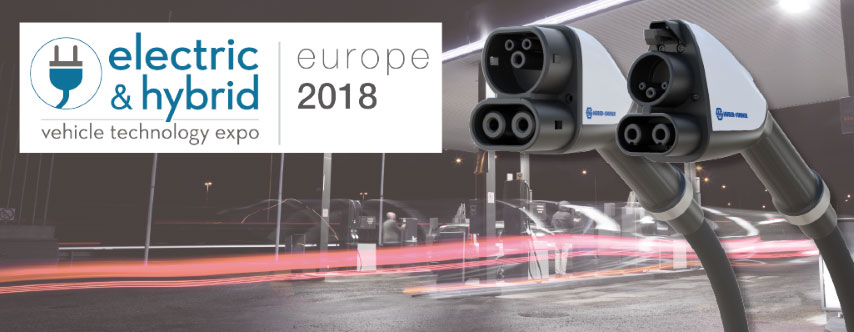 HUBER+SUHNER drives e-mobility solutions forward at EV Tech Expo 2018