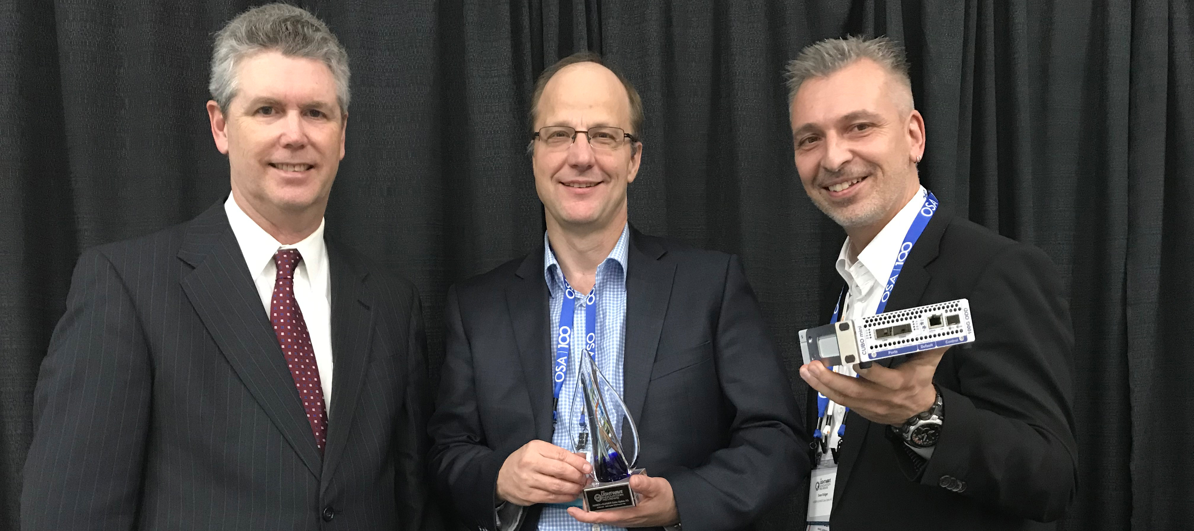 HUBER+SUHNER Cube Optics honored with award in 2019 Lightwave Innovation Reviews Program