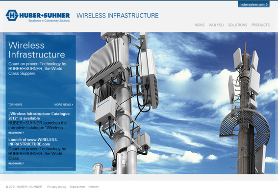 <p>Launched: Website for Wireless Infrastructure</p>