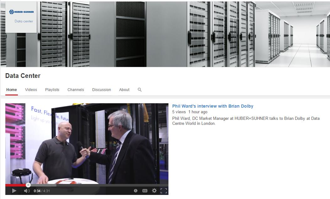 HUBER+SUHNER @ Data Centre World