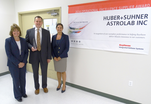 HUBER+SUHNER Astrolab receives Raytheon Integrated Defense Systems (IDS) Four Star Supplier Excellence Award: