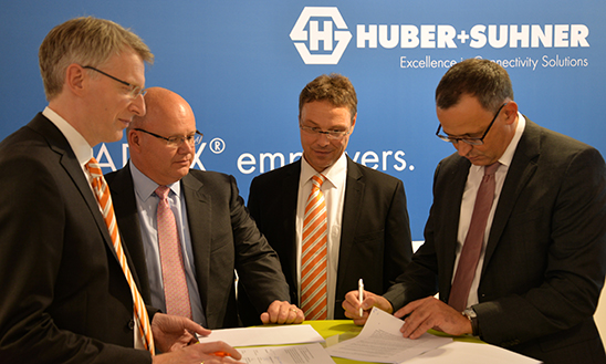 Weidmüller and HUBER+SUHNER strengthen cooperation