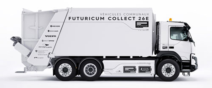 HUBER+SUHNER supports the e-truck revolution of refuse collection vehicles with Designwerk