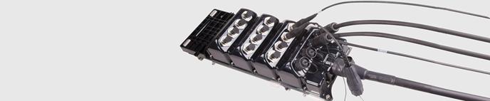 Hybrid Kabelsystem mit Hochspannungsversorgung