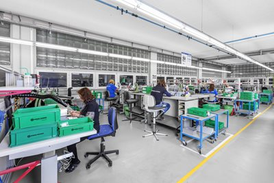 Assembling, production Radion Frquency, Herisau, Switzerland