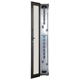 The 300 mm wide rack is supplied as a stand-alone cabinet and offers additional fiber management.