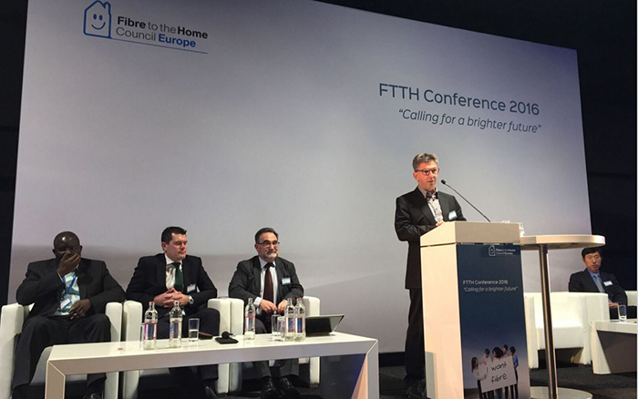 HUBER+SUHNER goes Back to the Future at FTTH Conference in Luxembourg