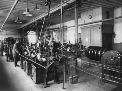 Cable production, Pfäffikon, Switzerland, 1935