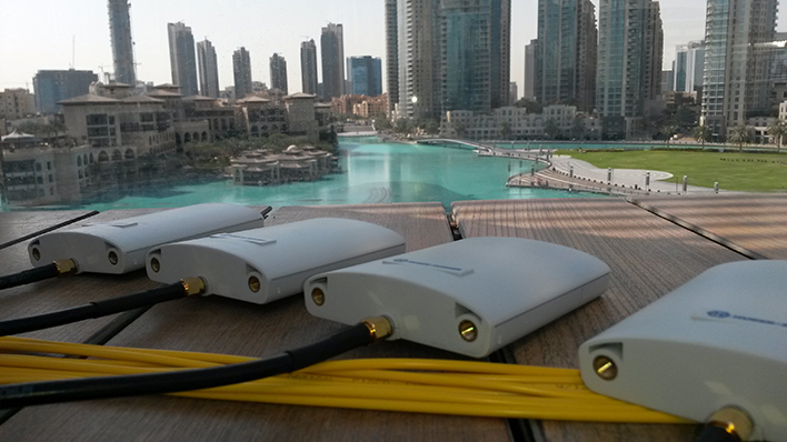 Record-breaking eagle flight from Dubai's Burj Khalifa – enabled by HUBER+SUHNER technology